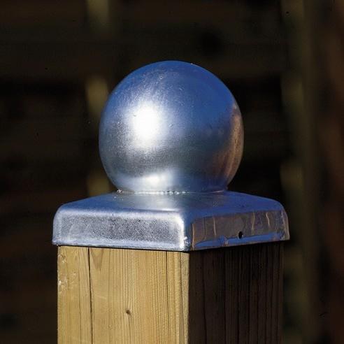 Pfostenabdeckung Metall Kugel 70 mm