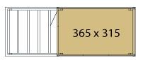 KUBUS Gartenhaus Wände 315x365