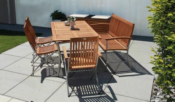 Ferrara Klappsessel Gruppe Robinienholz Gartenmöbel Sets
