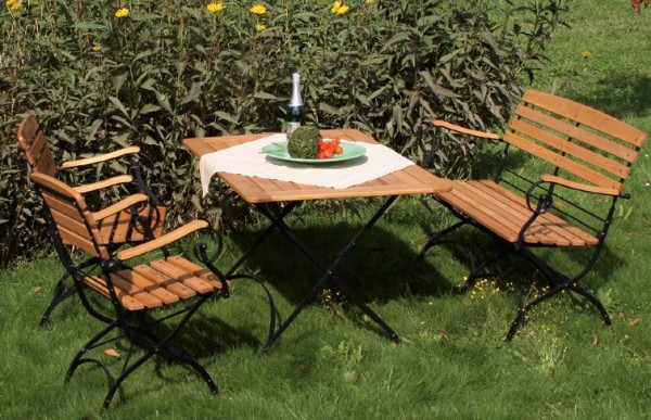 Tisch Robinienholz / Metall Tosca