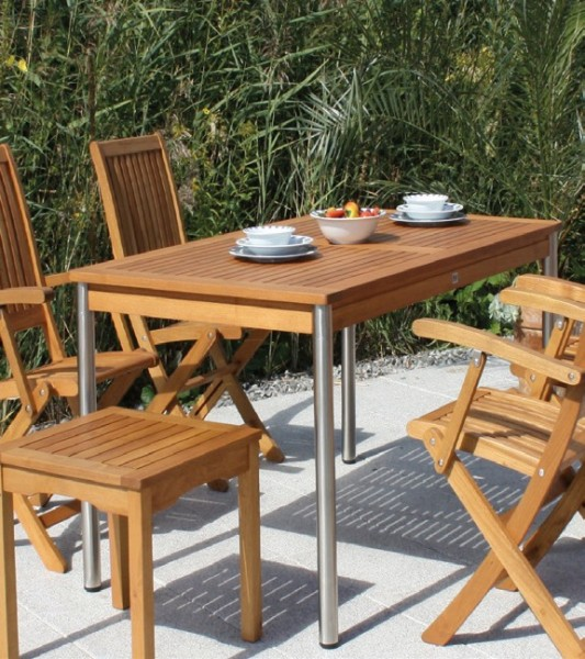 Bari Sesseltisch Gruppe Robinienholz Gartenmöbel Sets