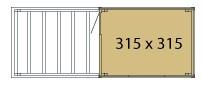 KUBUS Gartenhaus Wände 315x315