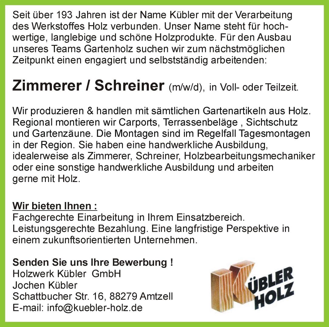 Anzeige-Zimmerer-Schreiner