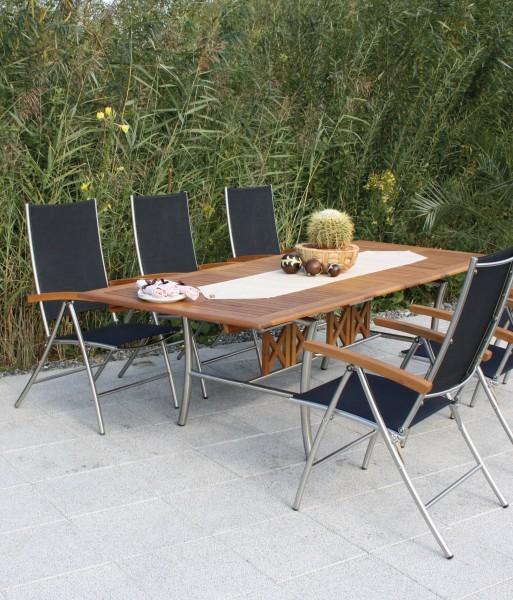 Salerno Gartenmöbel Set Robinienholz