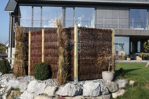 Sichtschutz Salix Weidenholz 180/180 cm
